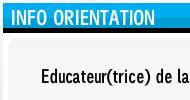 Informations de formations / orientation